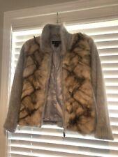 Vintage Vanesha Super Soft Angora Zip Up Collared Sweater Size Small