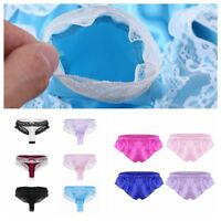Sexy Mens Satin Lace Briefs Shorts Sissy Panties Thong Underwear Pouch G-string