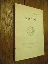 Adam / Paul de Nay / éditions de la revue des poètes - 1913 - Jouve & Cie