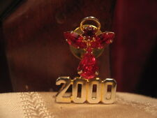 2000 Lapel, Coat Pin Faux Ruby Red Angel