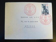 FRANCE PREMIER JOUR FDC YVERT 1048  CROIX ROUGE  ART GREC  15+5F  ANGERS 1955