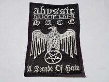ABYSSIC HATE DECADE OF HATE EMBROIDERED PATCH