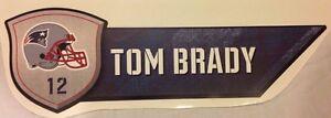 "21"" x 6"" TOM BRADY #12 Nameplate Sign New England Patriots FATHEAD Wall Decal"