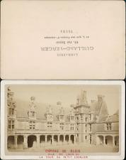 Château de Blois, aile Louis XII, la tour du petit escalier CDV, vintage albumen