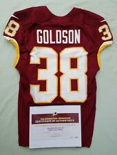 ab460c6223dfe #38 Dashon Goldson of Redskins NFL Game Used & Unwashed Jersey vs. Rams WCOA