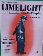 Theme from Limelight VINTAGE SHEET MUSIC by Charles Chaplin