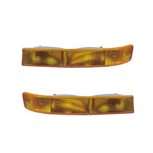 Signal Side Marker Lights Pair Set for 03-14 Chevy Express/03-12 GMC Savana