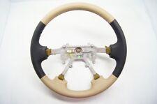 1999-2001 Isuzu VehiCROSS Rodeo Passport OEM Steering Wheel Tan Black Leather