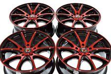 16 red Wheels Rims Civic HRV Vibe Fusion Talon Neon Avenger Legend 5x100 5x114.3