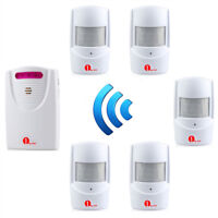 1byone 1000ft Wireless Driveway Alarm System Motion Sensor Home Security Alert