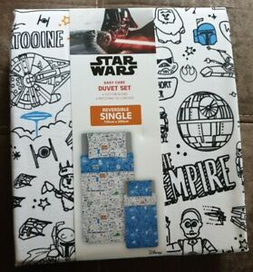 Star Wars reversable Single Duvet Cover Set - with matching pillow case.