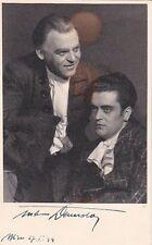 ANTON DERMOTA & ADOLF VOGEL opera dual signed photo in Don Pasquale