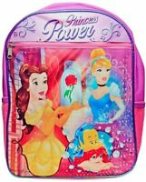 Disney Princess Girls School Backpack Lunch Box Book Bag SET Pink Kids Gift toy