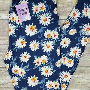 PLUS Daisy Leggings Flowers Floral Buttery Soft Curvy 10-18 TC