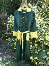 Sublime True Vintage 1940s Hand Embroidered Silky Ladies Robe /Dressing Gown