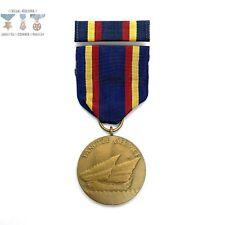 U.S. Navy Yangtze Service Medal Un-Marked Crimp Brooch Ribbon Bar 1940'S Us Mint