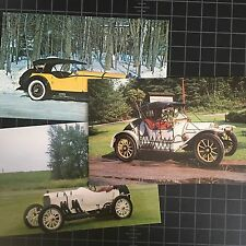 Postcard Lot of 3 Antique Automobiles Cars Long Island Auto Museum Unposted