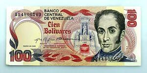 Venezuela. 100 Bolivares. Enero - 29 - 1980. SC/UNC