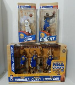 McFarlane Gold State Warriors 3 PK Curry