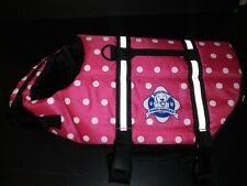 NWOT Dog Life Jacket Small Pink Polka Dot Life Vest Paws Aboard Nylon