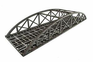 WWS Double Track Hi-Detail Grey MDF Bowstring Bridge 560mm – OO/HO Model Railway