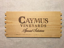 1 Rare Wine Wood Panel Caymus Vineyards Vintage CRATE BOX SIDE 7/20 2