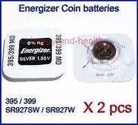 Energizer SR927W SR927SW 395 399 Silver Oxide button Battery x2 pcs FREE Post