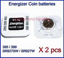 Energizer SR927W SR927SW 395 399 Silver Oxide button Battery x2 pcs FREE Post