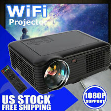 Multimedia 4K 3D WiFi Android Bluetooth LED Home Cinema Projector 7000 Lumens US
