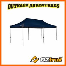 OZTRAIL GAZEBO DELUXE 6.0 - 6 x 3m BLUE - SHELTER  CAMPING NEW MODE
