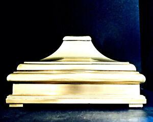 Fabulous Mid Century Chapman Solid Brass Covered Pagoda Box, ca.1978