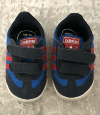 Adidas Baby Learn To Walk Dragon Baby Sneakers Crib Shoes Blue Red White $40