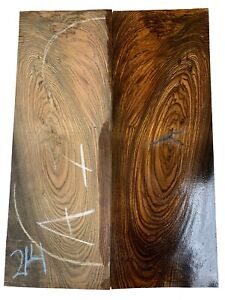 Bocote Classical Guitar Back/OM Set - Luthier Tonewoods #214, Free Shipping