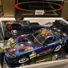 Bburago  DODGE VIPER GTS Coupé - Airbrush-Modell Disco-Night mit Zertifikat 1:18