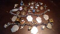 Jewelry Lot of 2 Vintage Sterling Silver Charm Bracelets w. Extra charms jewelry