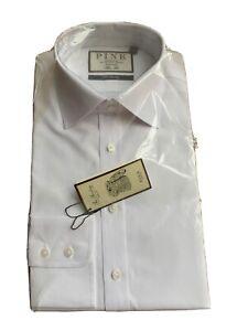 BNWT 'Thomas Pink' White Slim Fit Formal Shirt - 15.5R
