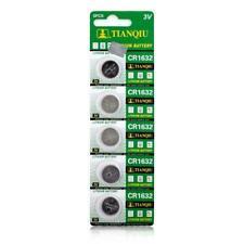 5pcs 3V Button Coin Cell ECR1632 DL1632 KCR1632 BR1632 CR1632 Battery Bulk Lot