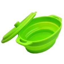 Portable Folding Storage Basin Silicone Bowl Collapsible Travel Cups With Cover