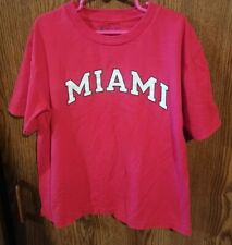 Youths Champion T-Shirt Red Miami Size 8 Unisex