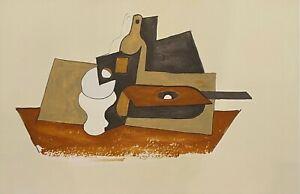 "PABLO PICASSO ""Guitare Verre et Bouteille"" Limited Edition Lithograph"