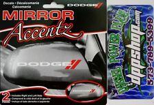 2 dodge mirror auto sticker decal window logo ram car gear new truck left right