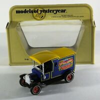 MATCHBOX MODELS OF YESTERYEAR Y12-3 1912 MODEL T VAN BIRD'S CUSTARD ISSUE Car