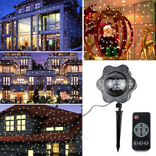 Snow Falling LED Laser Projector Light Xmas Snowflakes Night Lamp Party Decor