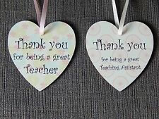 Thank you for being a great Teacher & Teaching Assistant Twin heart gift plaques