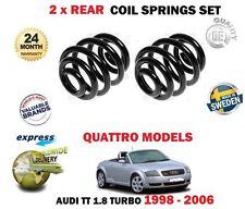 Per AUDI TT 1.8 Turbo quattro modelli 1996-2003 2 X Posteriore Molla Elicoidale Set