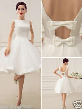 2018 Short Mini Cute New Wedding Dress Bridal Gown Custom Size 4 6 8 10 12 14 16