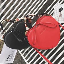 # Women Shoulder Bag Black Red Handbag+Scarf Crossbody Messenger bag Heart Shape