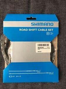 Shimano Road Shift Cable and Housing Set(Black, Y60098501)