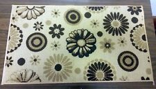 """TEXTILE KITCHEN RUG, (18"""" x 30""""), FLOWERS & CIRCLES by Rug Style"""