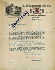 1919 color letterhead CHEWING GUM Chicago ILLinois L. P. LARSON JR. Co PEPTOMINT